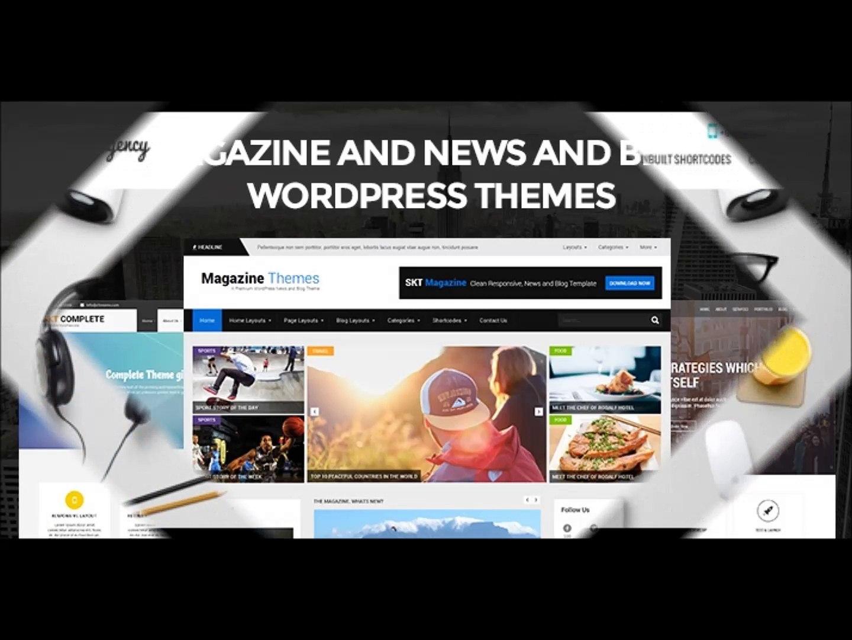 Magazine and News and Blog WordPress Templates