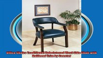 best produk   Office Chairs Traditional Upholstered Vinyl Side Chair with Nailhead Trim by Coaster