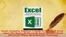 PDF  Excel Complete Beginners Guide To Microsoft Excel  Learn The Basics Of Microsoft Excel  EBook