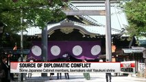 Some Japanese Cabinet members, lawmakers visit war shrine, Seoul urges Tokyo to squarely face history