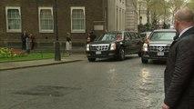 President Obama visits David Cameron at Downing Street