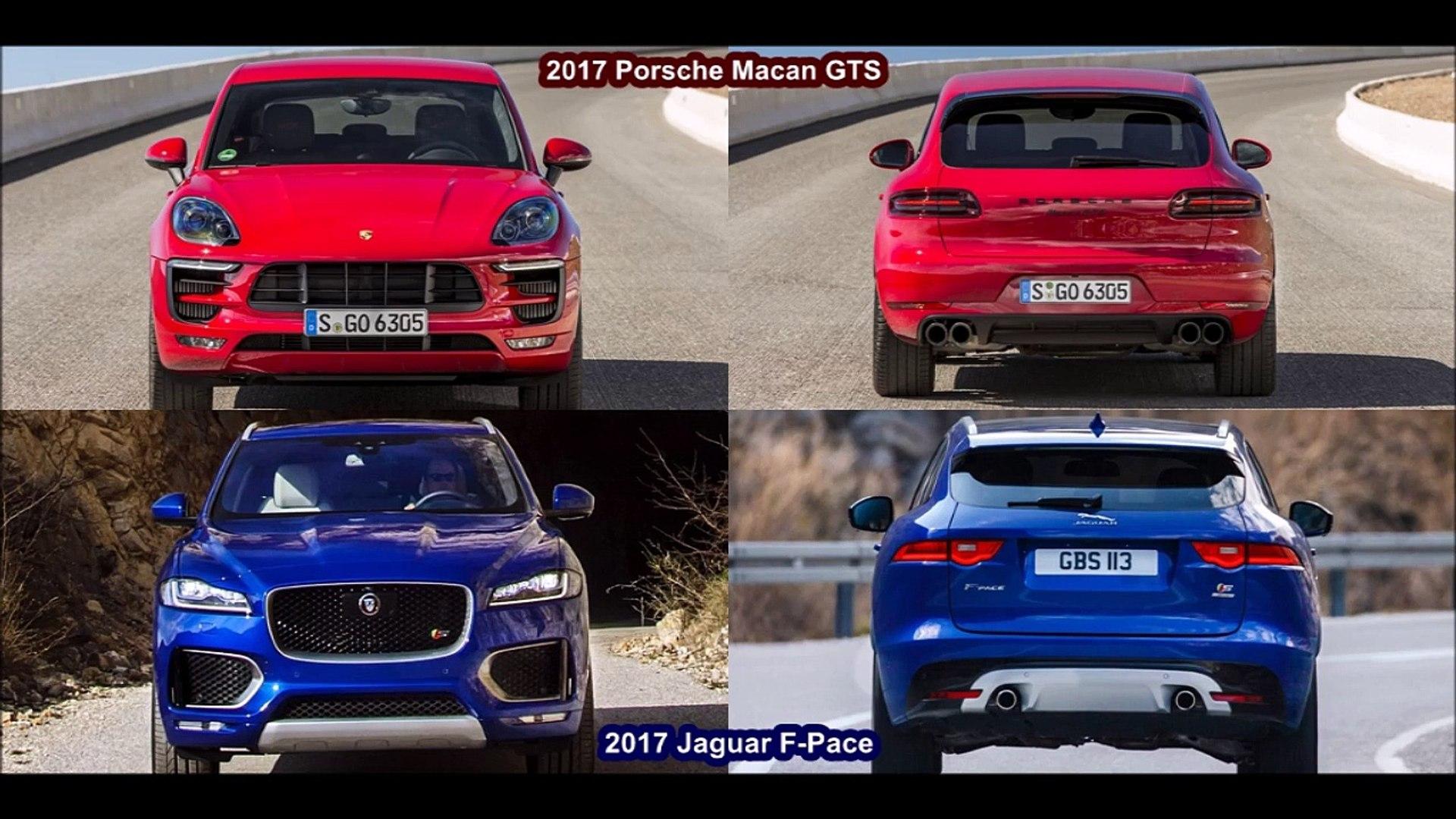2017 Jaguar F Pace S Vs 2017 Porsche Macan Gts Design