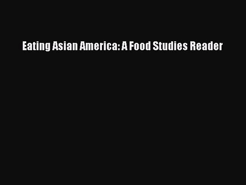 A Food Studies Reader