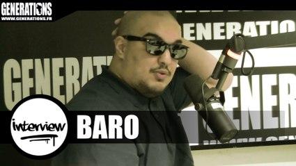 Baro - Interview (Live des studios de Generations)