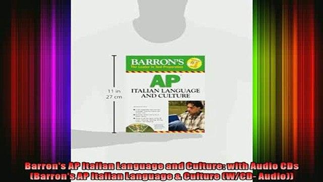 READ book  Barrons AP Italian Language and Culture with Audio CDs Barrons AP Italian Language  Full EBook