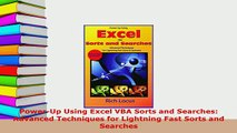 PDF  PowerUp Using Excel VBA Sorts and Searches Advanced Techniques for Lightning Fast Sorts  EBook