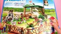 Chats rigolos lapins mignons dans lenclos du zoo Playmobil   Caresser et nourrir   Unboxi