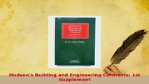 PDF  Hudsons Building and Engineering Contracts 1st Supplement Free Books