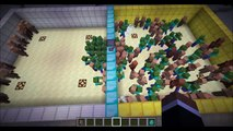 Minecraft Mob Battle - Zombie vs NPC Villagers : Mob vs Mob