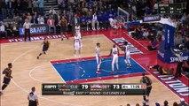 LeBron James Hits a Circus Shot   Cavaliers vs Pistons   Game 3   April 22, 2016   NBA Playoffs