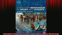 READ book  Consumer Behaviour in Sport and Events Sports Marketing  BOOK ONLINE