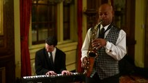 """First Class Jazz Duo performs""""Fly Me to the Moon"""" presented by the hank agency"""