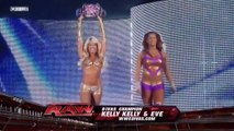 RAW Melina & Maryse vs Kelly Kelly & Eve 07-25-11