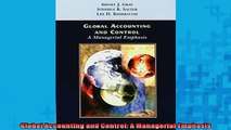 Downlaod Full PDF Free  Global Accounting and Control A Managerial Emphasis Online Free