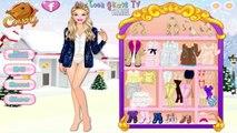 Barbie Winter Glitter Trends: Fashion games.
