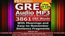 Download Franklin GRE Audio MP3 Vocabulary Builder: Download 19 CDs