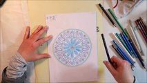 inspiration is everywhere: dishes // mandala speed drawing // creative play with coloured pencils