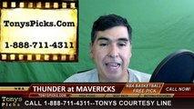 Oklahoma City Thunder vs. Dallas Mavericks Free Pick Prediction Game 4 NBA Pro Basketball Odds Preview 4-23-2016