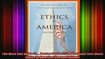 Free Full PDF Downlaod  The Wise Owl Guide To Dantes Subject Standardized Test Dsst Ethics In America Second Full Free