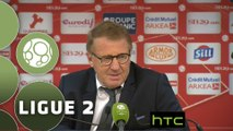 Conférence de presse Stade Brestois 29 - Stade Lavallois (0-0) : Alex  DUPONT (BREST) - Denis ZANKO (LAVAL) - 2015/2016