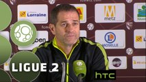 Conférence de presse FC Metz - Red Star  FC (2-0) : Philippe  HINSCHBERGER (FCM) - Rui ALMEIDA (RED) - 2015/2016