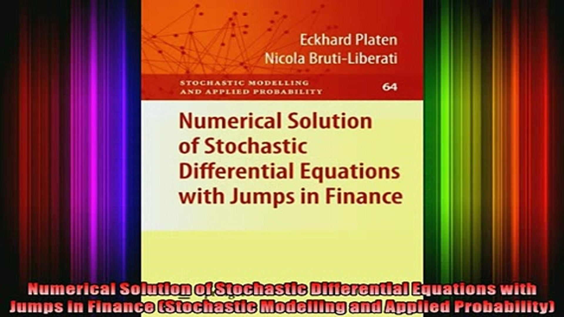 Downlaod Full PDF Free Numerical Solution of Stochastic Differential  Equations with Jumps in Finance Stochastic Online Free