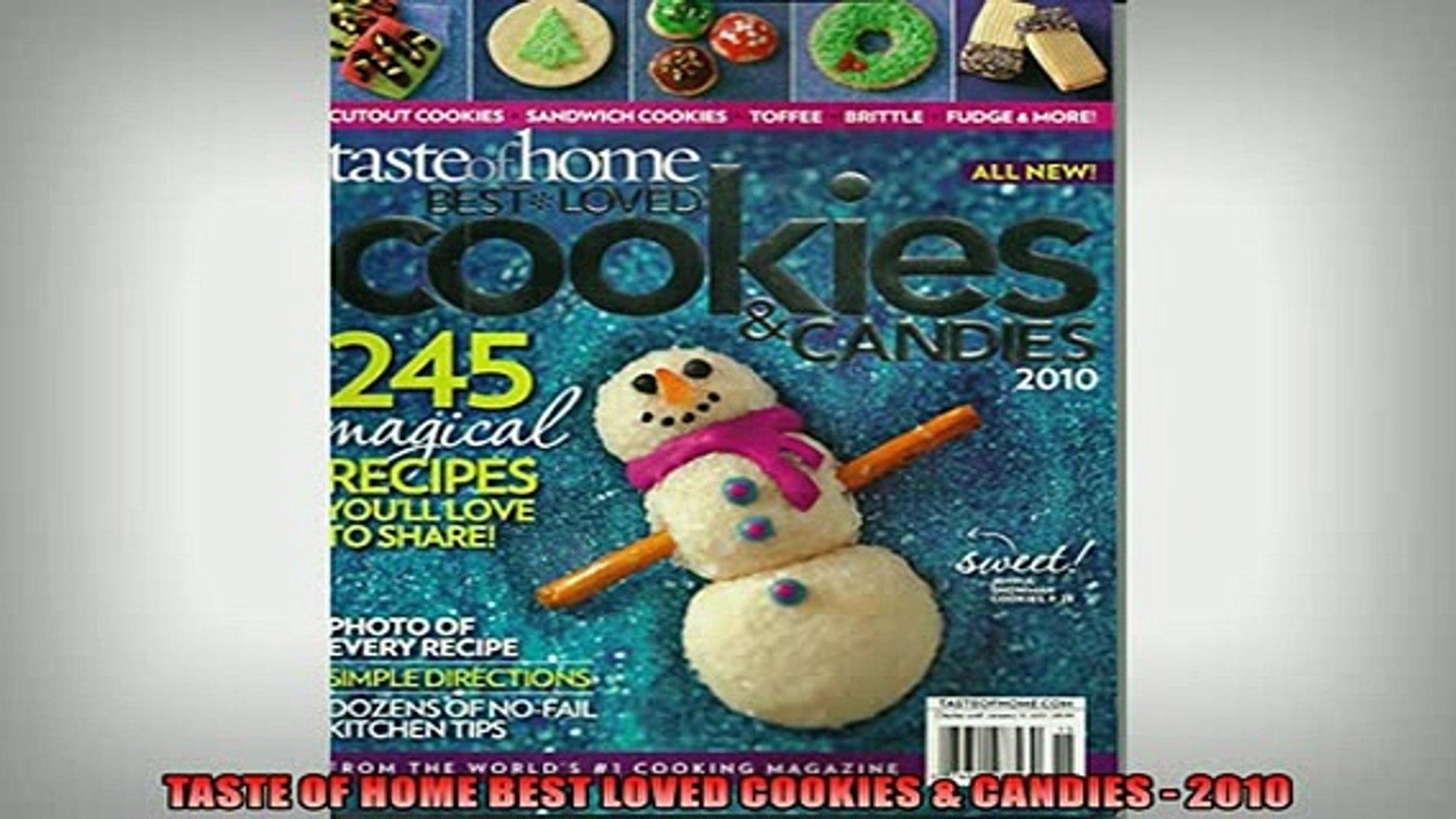 Free Pdf Downlaod Taste Of Home Best Loved Cookies Candies 2010 Book Online