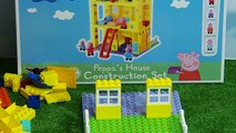 peppa pig toys - Peppa Pig Blocks Mega House unboxing toys. Toy For Kids Peppa collection