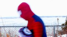Spiderman vs Catwoman in Real Life! Spiderman is Trapped by Catwoman – Fun Superhero Movie! [HD, 720p]