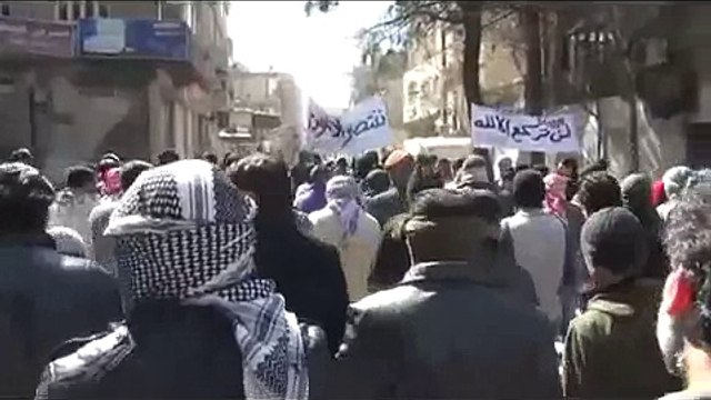 (03-09-12) Yabroud | Damascus | The Brave Call for the Detained to be Released