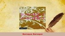 Download  Baroque Baroque Read Online