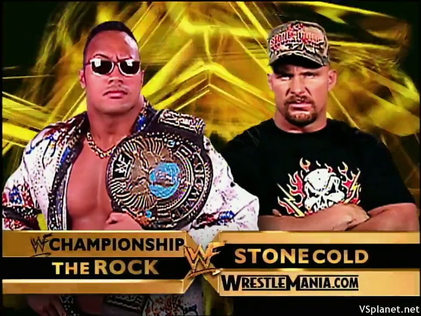 """The Rock VS """"Stone Cold"""" Steve Austin - No DQ Match for the WWE  Championship - (Wrestlemania X-Seven) - video Dailymotion"""