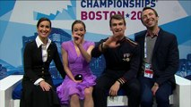 Elisabeth PARADIS / Francois-Xavier OUELLETTE - SD kiss and cry - ISU World Championships 2016