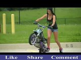 Amazing Female Bike Stunt..