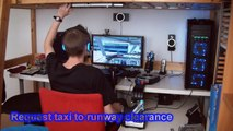 My PC Flight Simulator setup Demo Flight 1 Part 1 - Boeing 737 [HD 720p]