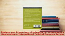 PDF  Regions and Crises New Challenges for Contemporary Regionalisms International Political Read Full Ebook
