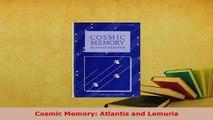 PDF  Cosmic Memory Atlantis and Lemuria Free Books