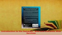 PDF  Introduction to the Semantic  Web and Semantic Web Services Free Books