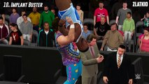 WWE 2K16 Top 15 Announce Table Finishers/ Top 15 Finishers Through The Announce Table