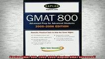 READ book  Kaplan GMAT 800 20052006 Kaplan GMAT Advanced Full Free