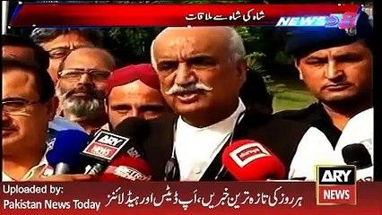 ARY News Headlines 26 April 2016, Report on Khurshid Shah and Shah Mehmood Qureshi Meeting -