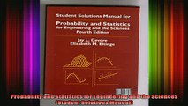 READ Ebooks FREE  Probability and Statistics for Engineering and the Sciences Student Solutions Manual Full EBook