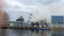 Incendie au pavillon Savare