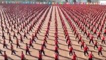 Kung fu Students Show At Shaolin CHINA
