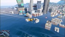 Huge Tsunami Waves  Meteor Shower Mod (GTA 5 Meteorite Mod Gameplay)