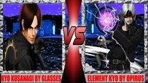 [Mugen - KOF WOJ] Kyo Kusanagi (Glasses) vs. Element Kyo (Opirus)