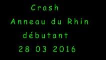 Entrainement Anneau du Rhin 28 03 2016 Team Passion vitesse  - Crash Moto - Triumph 675 R - Gopro 3+