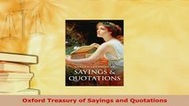 PDF  Oxford Treasury of Sayings and Quotations  EBook