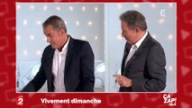 Chiens et plaisanteries coquines : Christophe Dechavanne et Michel Drucker s'amusent en direct