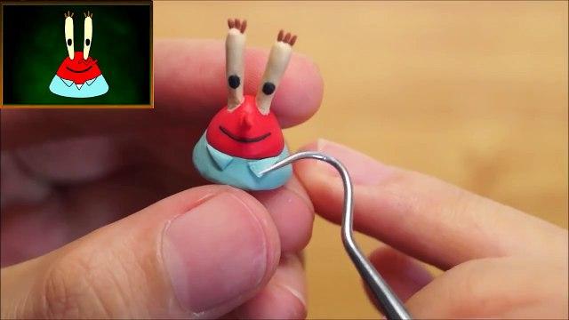 Eugene H. Krabs (SpongeBob SquarePants) Polymer Clay Miniature Character Figure Tutorial